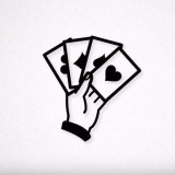 playing cards silhouette